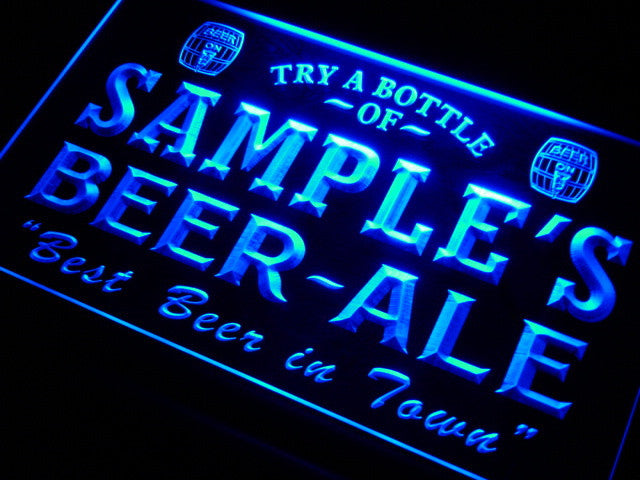 Name Personalized Custom Best Beer Ale Home Bar Pub Neon Sign