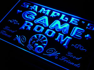 Name Personalized Custom Game Room Man Cave Bar Beer Neon Sign