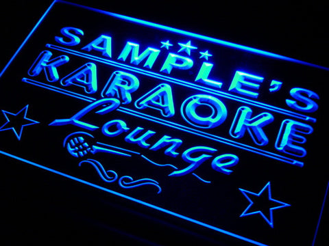 Name Personalized Custom Karaoke Lounge Bar Beer Neon Sign