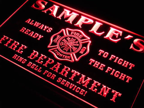 Name Personalized Custom Fire Department Bar Beer Neon Sign