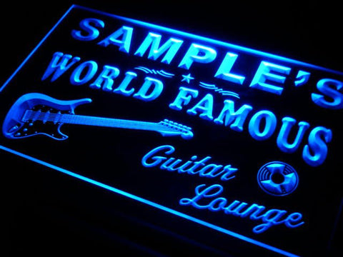 Name Personalized Custom Guitar Band Room Bar Beer Neon Sign