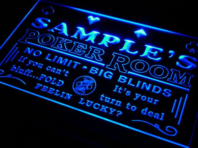 Name Personalized Custom Poker Casino Room Beer Bar Neon Sign