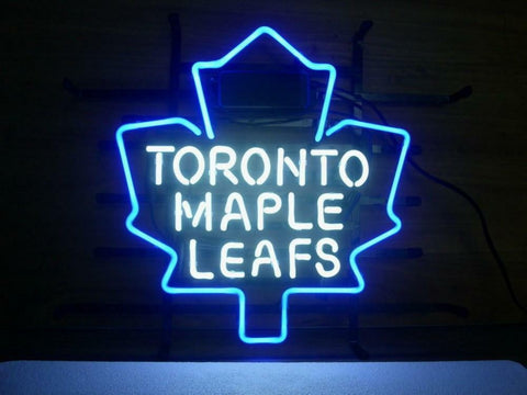 Toronto Maple Leafs Glass Neon Light Sign Beer Bar