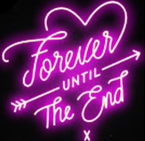 Custom Love Forever Glass Neon Light Sign Beer Bar