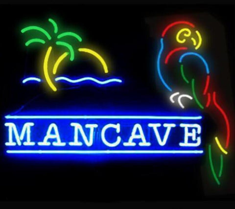 Custom Man Cave Parrot Glass Neon Light Sign Beer Bar