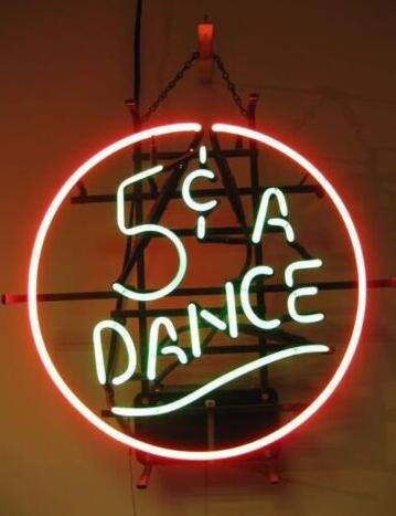 Custom 5 Cent A Dance Glass Neon Light Sign Beer Bar