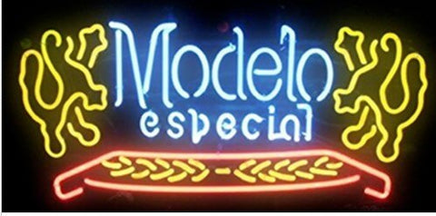 Custom Modelo Especial Glass Neon Light Sign Beer Bar
