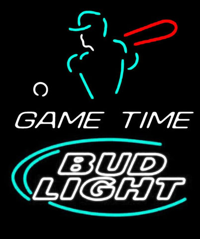 Custom Bud Light Game Time Glass Neon Light Sign Beer Bar
