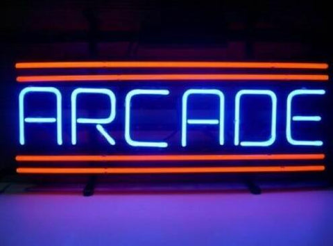Custom Arcade Red Glass Neon Light Sign Beer Bar