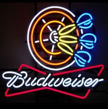 Custom Budweiser Darts Beer Bar Glass Neon Light Sign Beer Bar