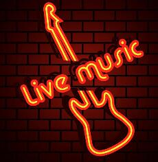 LIVE MUSIC Glass Neon Light Sign Beer Bar