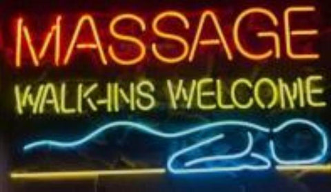 Custom Massage Walk Ins Welcome Glass Neon Light Sign Beer Bar