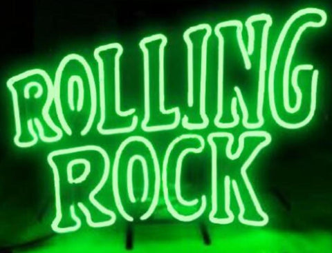 Custom Rolling Rock Glass Neon Light Sign Beer Bar