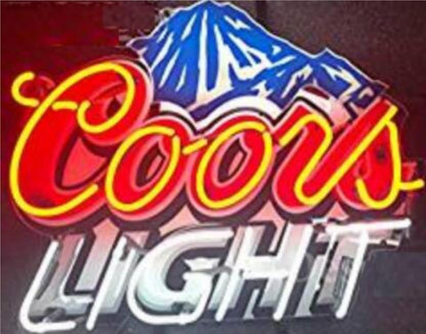 Custom Coors Light Glass Neon Light Sign