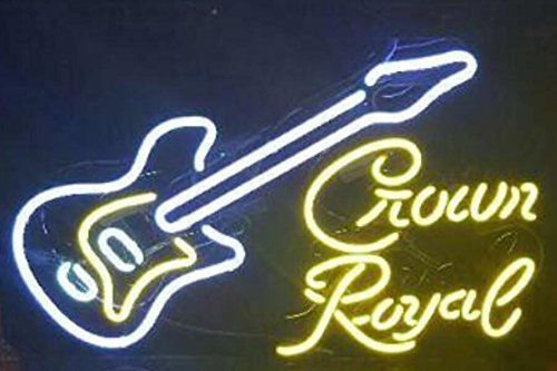Custom Music Crown Royal Glass Neon Light Sign Beer Bar