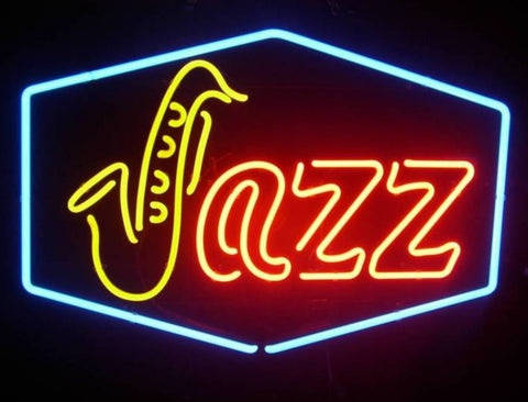 Custom Jazz Music Band Glass Neon Light Sign Beer Bar