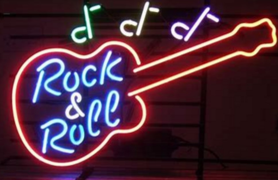 Custom Rock & Roll Glass Neon Light Sign Beer Bar