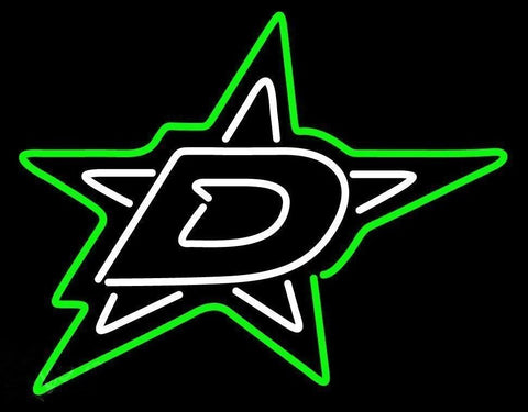 Custom Dallas Stars Glass Neon Light Sign Beer Bar