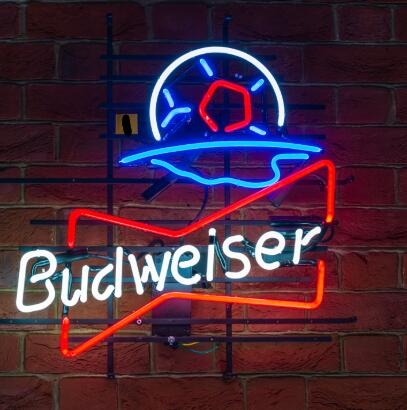 Custom Budweiser  Bottles Glass Neon Light Sign Beer Bar