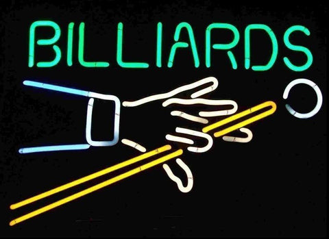 Custom Billiards Game Room Glass Neon Light Sign Beer Bar
