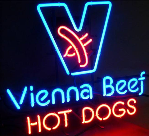 From Hot Dog Glass Neon Light Sign Beer Bar
