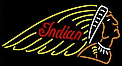 Custom Made Indian Glass Neon Light Sign Beer Bar