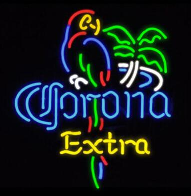 Corona Extra Parrot Bird Glass Neon Light Sign