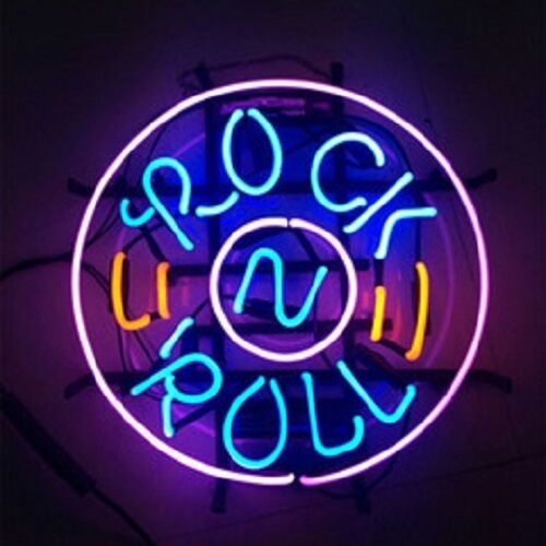 Rock And Roll Music Guitar Glass Neon Light Sign Beer Bar