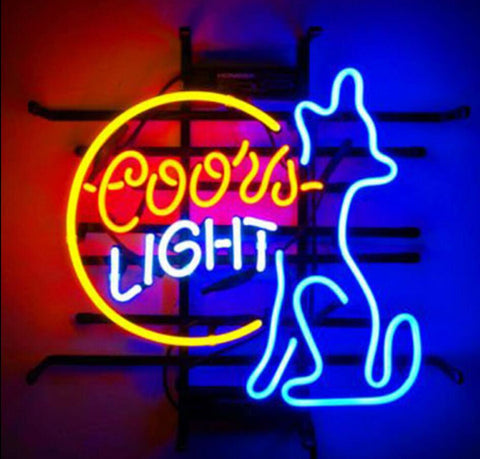 Custom Coors Light Doggy Glass Neon Light Sign Beer Bar