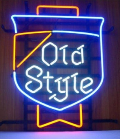 Custom Old Style Glass Neon Light Sign Beer Bar