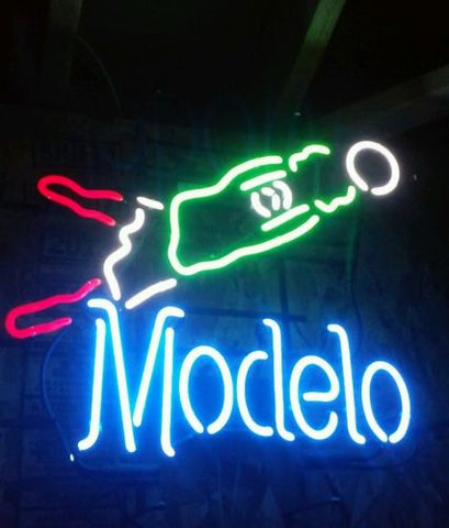 Large Modelo Soccer Beer Glass Neon Light Sign Beer Bar