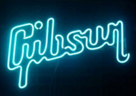 GIBSON GUITAR MUSIC Glass Neon Light Sign Beer Bar