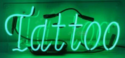 Custom Tattoo Glass Neon Light Sign Beer Bar