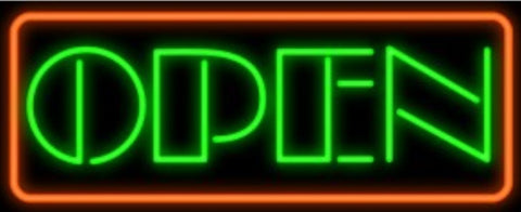 OPEN Glass Neon Light Sign Beer Bar
