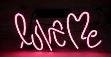 Love Me Glass Neon Light Sign Beer Bar