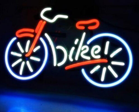 Custom Bicycle Bike Motocross Rider with Glass Neon Light Beer Bar