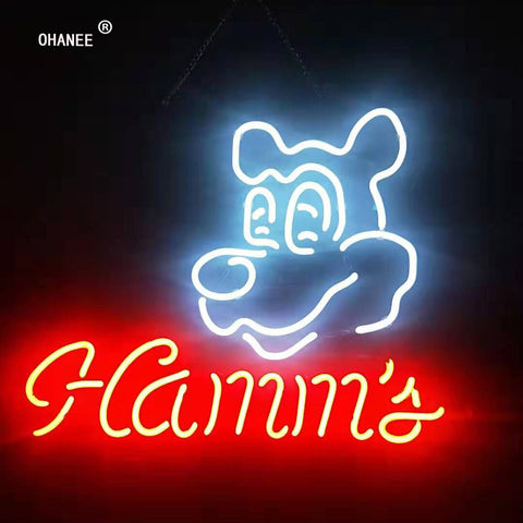 Custom for Hamms Neon Sign Light Real Glass Neon Tube HandMade Beer Bar Shop Logo Pub Store Club Garage Nightclub