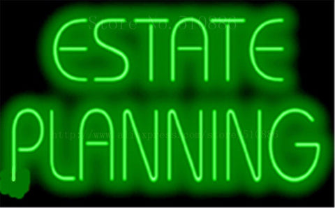 "17*14"" Estate Planning NEON SIGN REAL GLASS BEER BAR PUB LIGHT SIGNS store display  Restaurant  Shop Advertising Lights"