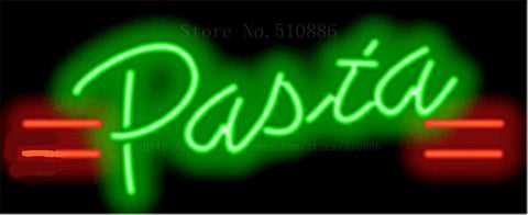 "17*14"" Pasta NEON SIGN REAL GLASS BEER BAR PUB LIGHT SIGNS store display  Packing  Food Dinning Drink Bulbs  Advertising Lights"