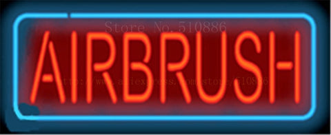 "17*14"" Airbrush NEON SIGN REAL GLASS BEER BAR PUB LIGHT SIGNS store display Restaurant shop beauty and body Advertising Lights"