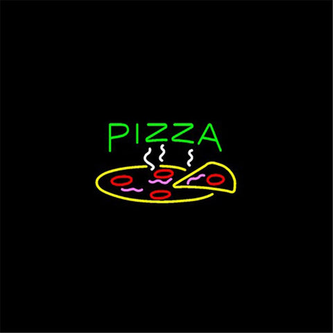 "17*14"" For PIZZA  NEON SIGN REAL GLASS BEER BAR PUB LIGHT SIGNS store display  Restaurant Hotel Food Bulbs  Advertising Lights"