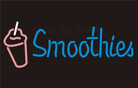 Custom Signage NEON SIGNS For Smoothies Drinks Tube BAR PUB Signboard Display Decorate Store Shop Light Sign 17*14""