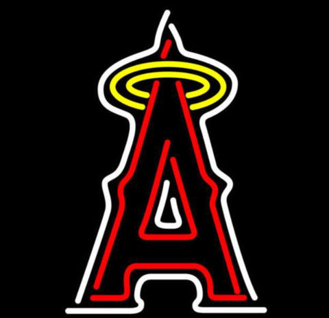 Business Custom NEON SIGN board For Baseball MLB Los Angeles Angels REAL GLASS Tube BEER BAR PUB Club Shop Light Signs 15*14""