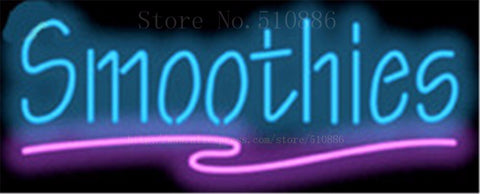 "17*14"" Smoothies NEON SIGN REAL GLASS BEER BAR PUB LIGHT SIGNS store display  Restaurant  Shop food Advertising Lights"