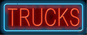 "Trucks Repair Car Tube Neon sign Beer Club Handcrafted Automotive signs Shop Store Business Signboard Signage 17""x14"""