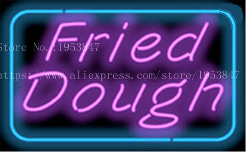 "Fried Dough Food Child neon sign Handcrafted Light Bar Beer Pub Club signs Shop Business Signboard diet food diner break 17""x14"""