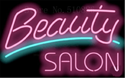 "17*14"" Beauty Salon Designer NEON SIGN REAL GLASS BEER BAR PUB LIGHT SIGNS store display  Restaurant  Shop Advertising Lights"