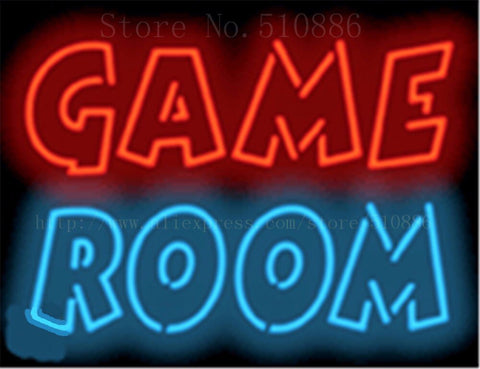 "17*14"" Game Room NEON SIGN REAL GLASS BEER BAR PUB LIGHT SIGNS store display  Restaurant Shop occasional home Advertising Lights"
