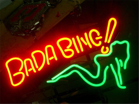 NEON SIGN For BADA BING Signboard REAL GLASS BEER BAR PUB  display  Restaurant  Shop christmas Light Signs 17*14""