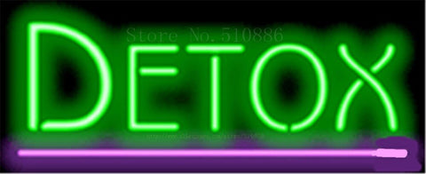 "17*14"" Detox NEON SIGN REAL GLASS BEER BAR PUB LIGHT SIGNS store display Packing Garage Bulbs business Advertising Lights"